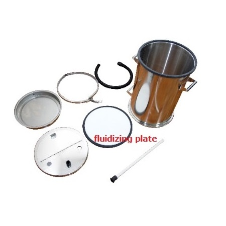 Fluidization Plate for Powder Collection Barrel